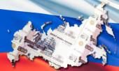 Россия на фоне флага