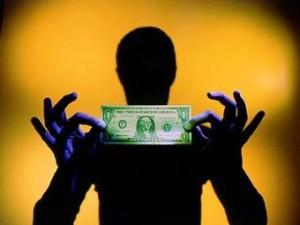 человек с долларом