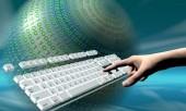 Клавиатура и рука