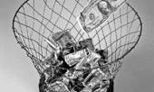 Деньги в корзине